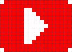 YouTube Perler Bead Pattern / Bead Sprite