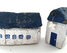 Driftwood House Mini House White House Greek by WillyaCollection