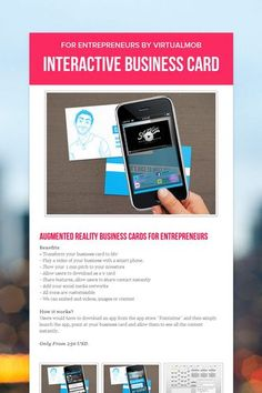 Here is another youtube video on augmented business cards vr on here is another youtube video on augmented business cards vr on the reality is outputted in a much interested way augmented reality for business reheart Choice Image