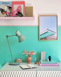 The Spring Edit: My New Favourite Discoveries For My Home — MELANIE LISSACK INTERIORS Small Space Living, Living Spaces, Small Spaces, Upcycled Cabinet, Green Desk, Interior Styling, Interior Design, Desk Layout, Room Paint