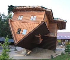 Name Upside-down House City Szymbark Country Poland Architect Danmar (a  timber company) Characteristic House .