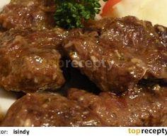 Hovězí kližka na česneku a majoránce Czech Recipes, No Salt Recipes, Stew, Pork, Chicken, Meat, Cooking, Anna, Fine Dining