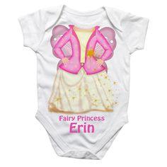 Personalised Fairy Princess Baby Grow