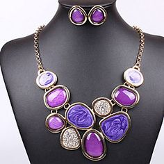 JS Contrast Color Resin Jewelry Set