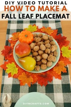 Create a rustic upcycled cardboard fall leaf placemat as the perfect base to many Thanksgiving and fall decorations around your home! This is a perfect fall home decor project or Thanksgiving decoration that anyone can make! #HomeDecor #ThanksgivingDecor #FallDecor #UpcycledCraft