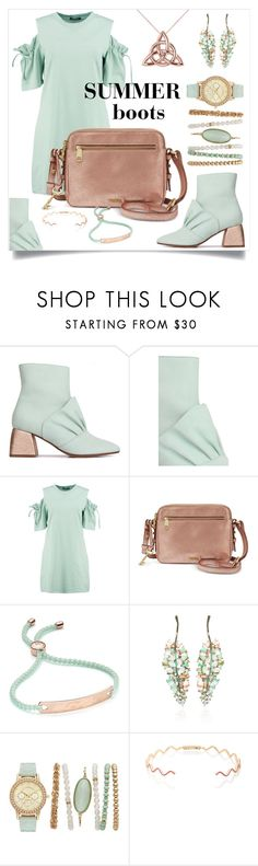 """""""Summer boots"""" by nicole-christie-mennen ❤ liked on Polyvore featuring Beau Coops, Boohoo, FOSSIL, Monica Vinader, Nak Armstrong, Sabine Getty and Allurez"""