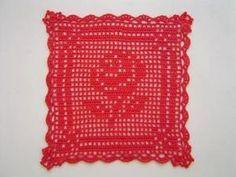 薔薇のドイリー(方眼編み・編み図付き・バラ) : Crochet a little