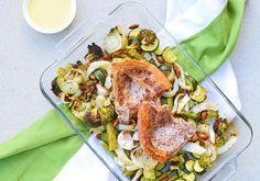 Pork Chop and Greens Reset Meal for Pork Chops, Super Easy, Sugar, Meals, Chicken, Food, Meal, Essen, Yemek