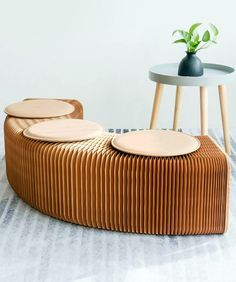 This Folding Accordion Sofa Chair (made of eco-friendly Kraft paper) is the versatile and stylish piece of furniture that is ideal for any part of the home. Gadgets And Gizmos, Cool Gadgets, Home Technology, Cool Inventions, Sofa Chair, Outdoor Furniture, Outdoor Decor, Natural Wood, Living Spaces