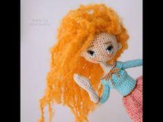 Вяжем кукол крючком | Каркасные куклы | Ореховый Мишка | Новогодняя Девочка. Часть 3 - Ножки - YouTube