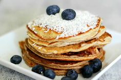 Protein Pancakes with shredded coconut and fresh blueberries.  #awesomesauce  #cakeporn #proteinpancake #lowcarb #protein #fitfoodie #fitspo #fitfood #fitness #postworkout #breakfast #healthysnack #healthyfat