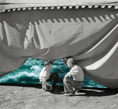 Merve Özaslan (Turkish, b. Istanbul, Turkey) - Tent from Natural Act series, 2013 Digital Arts: Collages Collages, Collage Art, Collage Ideas, Digital Collage, Salvador Dali, Trippy, Days Of Future Past, Creepy Pictures, Photocollage