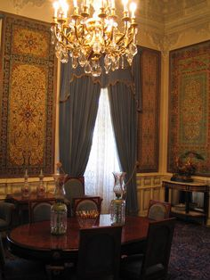 Sa'dabad Palace, is a palace built by the Pahlavi dynasty of Iran in the Shemiran area of Tehran. The complex was first inhabited by Qajar monarchs and royal family in the 19th century. After an expansion of the compounds, Reza Shah lived there in the 1920s. And his son, Mohammad Reza Pahlavi moved there in the 1970s.