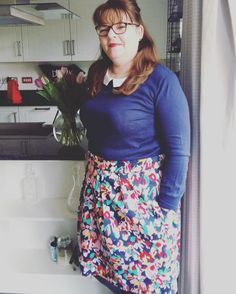 SOIshowoff March: My very happy mum in her home sewn tulip skirt with her Mother's Day tulips. Lovely fabric from the Islington shop Skirt Sewing, Skirt Patterns Sewing, Sew Over It Patterns, Home Sew, Tulip Skirt, Tulips, March, Couture, Instagram Posts