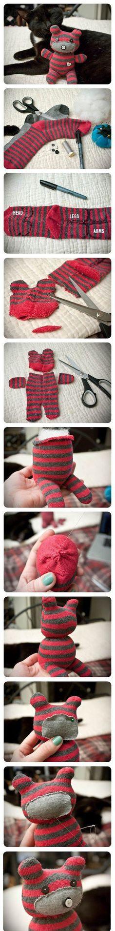 Çoraptan Oyuncak Modelleri ve Yapımı beautiful cutest funny wild basteln lustig zeichnen Sock Crafts, Cute Crafts, Crafts To Do, Fabric Crafts, Sewing Crafts, Craft Projects, Crafts For Kids, Craft Ideas, Sewing Projects