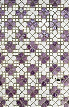 floralls: submitted by miyukimardon: vintage purple floral tiles - melbourne photo by Miyuki Mardon