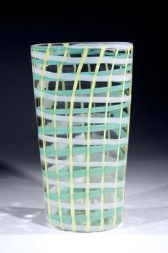 Vase Bianconi Venini Murano Glass 'Scozzese' 1957.