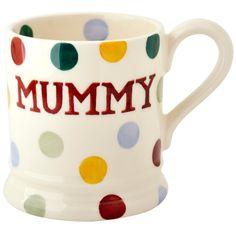 "Emma Bridgewater 'Polka Dot' ""Mummy"" Personalised 1/2 pt Mug"