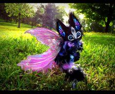 --SOLD-- Poseable Winged Baby Glass Dragon! by Wood-Splitter-Lee.deviantart.com on @deviantART