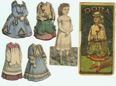 McLoughlin Dora with Envelope Doll 4 Dresses | eBay