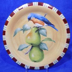 Lenox Winter Greetings Everyday Stoneware by Catherine McClung - Bluebird Salad Plate