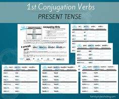1st Conjugation Verbs PresentTense