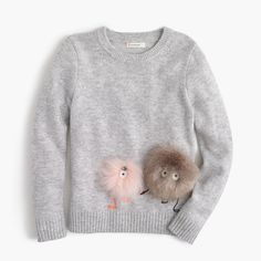 J.Crew Girls' furry Max the Monster wool popover sweater. Yes, I plan on buying one for myself in a size 16. I ❤️ it!!