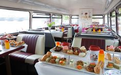 Why does an afternoon tea need to be a static experience? Ride through London on a vintage double-decker bus while sipping champagne and enjoying miniature cupcakes with the BB Afternoon Bus Tea Tour.