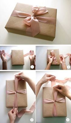 The Perfect Bow – Gift Wrapping Tutorial - 14 Useful yet Unique DIY Gift Wrapp. - The Perfect Bow – Gift Wrapping Tutorial - 14 Useful yet Unique DIY Gift Wrapp. The Perfect Bow – Gift Wrapping Tutorial - 14 Useful yet Unique DIY . Present Wrapping, Creative Gift Wrapping, Creative Gifts, Gift Wrapping Bows, Wrapping Papers, Diy Wrapping, Easy Gift Wrapping Ideas, Birthday Wrapping Ideas, Brown Paper Wrapping
