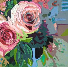 """""""Small Blooms"""" Oil Painting by Kate Mullin. flowers. www.katemullinart.com"""