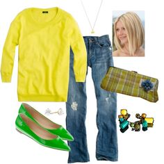 lemon & festival green, created by shopwithm on Polyvore