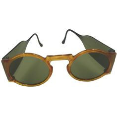 Pre-owned Rare 1930's Faux Tortoise Sunglasses with Side Shields. ($295) ❤ liked on Polyvore featuring accessories, eyewear, sunglasses, tortoise glasses, fake sunglasses, tortoise shell glasses, tortoiseshell glasses and vintage tortoise shell sunglasses