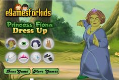 Princess Fiona needs your help to dress her up before she is going out a date with Shrek. Can you help her?