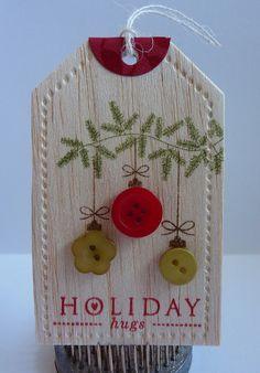Crafting with Katie: Balsa Wood Christmas Tag