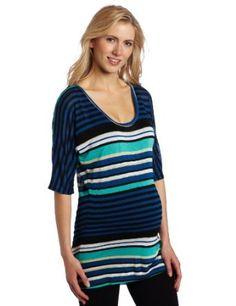 Velvet Women's Maternity Louise Jersey Shirt, Blue, Medium Velvet. $118.00