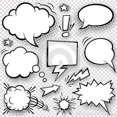 Comic bubbles and elements by Fourleaflover, via Dreamstime