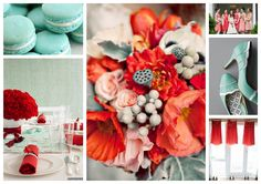 mint green and coral and teal wedding colors | thebridesmaidandthebride.files.wordpress.com