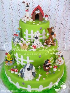 Dog cake…LOVE this. two layers though. Cupcakes, Cupcake Cakes, Puppy Birthday Cakes, Puppy Cake, Animal Cakes, Dog Cakes, Disney Cakes, Cake Pictures, Novelty Cakes