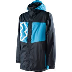 New Mens Special Blend Beacon Shell Snowboard Jacket Large Blue Me South Beach