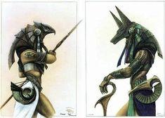 Resultado de imagen para horus vs anubis