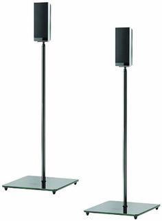 Pair Genuine Atlantic Adjustable Satellite Speaker Stands Titanium