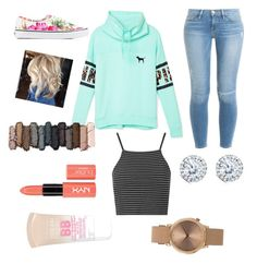 """""""Casual day"""" by cai8lin2 ❤ liked on Polyvore featuring Victoria's Secret PINK, Frame Denim, Vans, Urban Decay, Topshop, Kobelli and Maybelline"""