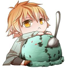 Yukine and his icecream :3