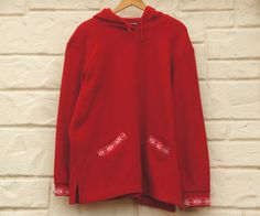 Vintage 90s Women's Land's End Fleece Sweater by SycamoreVintage
