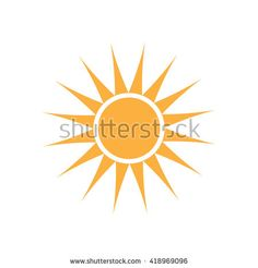 Summer Sun logo. Vector graphic design