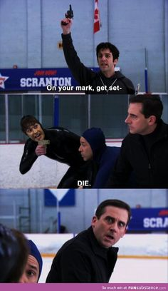 The Office - Threat Level Midnight: A Michael Scott Production. Michael Scott, Parks N Rec, Parks And Recreation, Fandoms Unite, The Office Show, Office Tv, Office Cast, Office Icon, Small Office