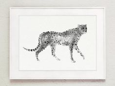 Cheetah Drawing Wall Decor. African Animal Minimalist Painting. Abstract Animals Poster Giclee Print. Watercolor Fine Art Print. Big Cats