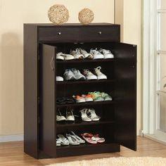 Five Shelf Wood Shoe Organizer Cabinet Armoire Chest Closet Dresser Drawer Panel