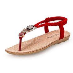 Sandalias Flip Flop Girasol Rojo
