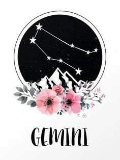 Gemini Star Sign Art Print by danielladevita Gemini Art, Zodiac Signs Gemini, Zodiac Art, Leo Zodiac, Libra, Gemini Star Constellation, Gemini Wallpaper, Cute Backgrounds For Phones, Leo Star